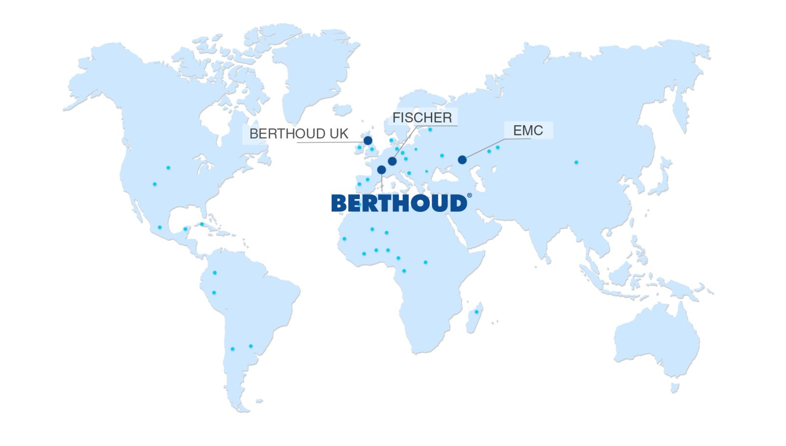 BERTHOUD's head office in France and subsidiaries abroad